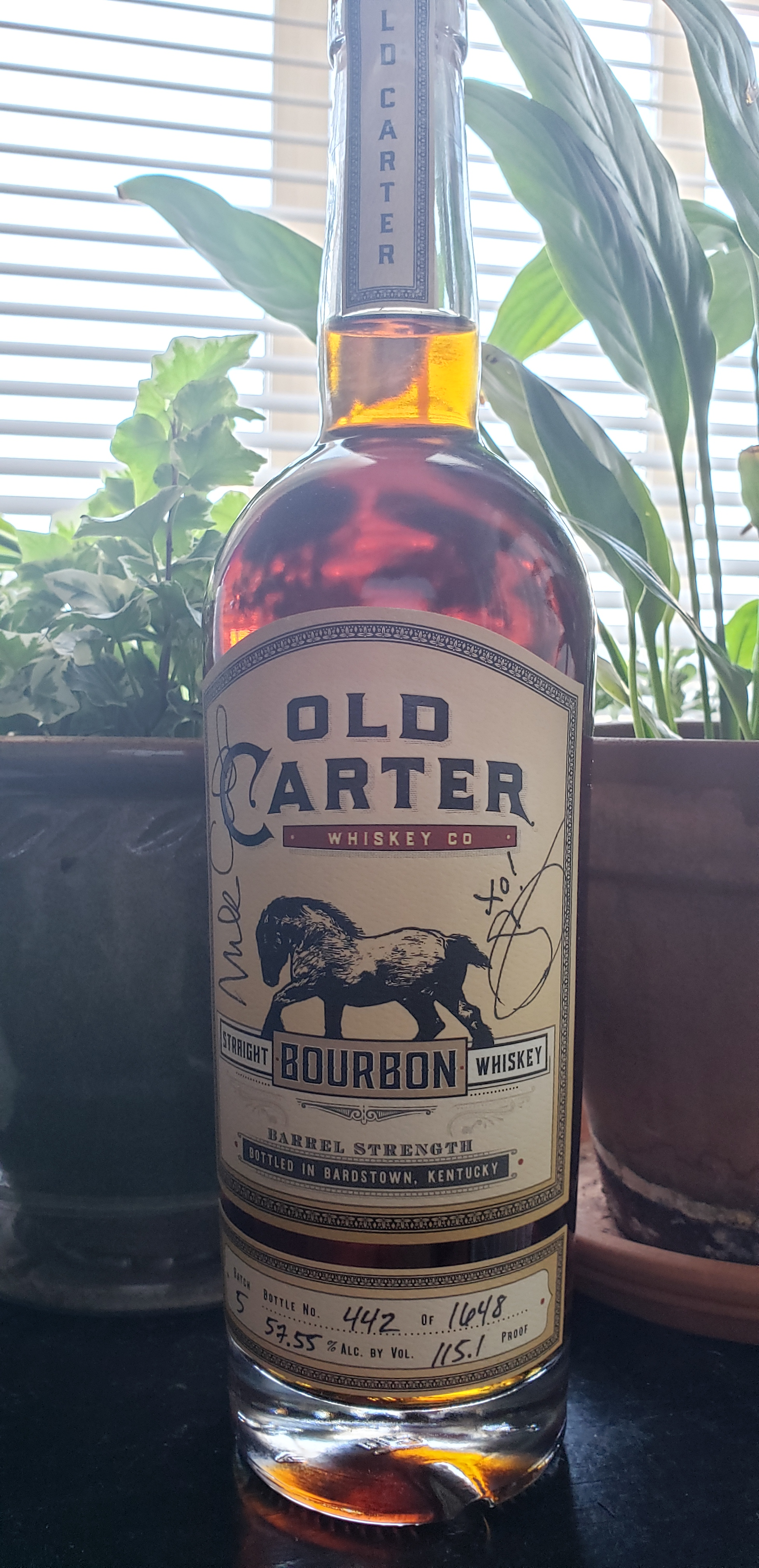 #FeedTheWest Old Carter Bourbon Raffle